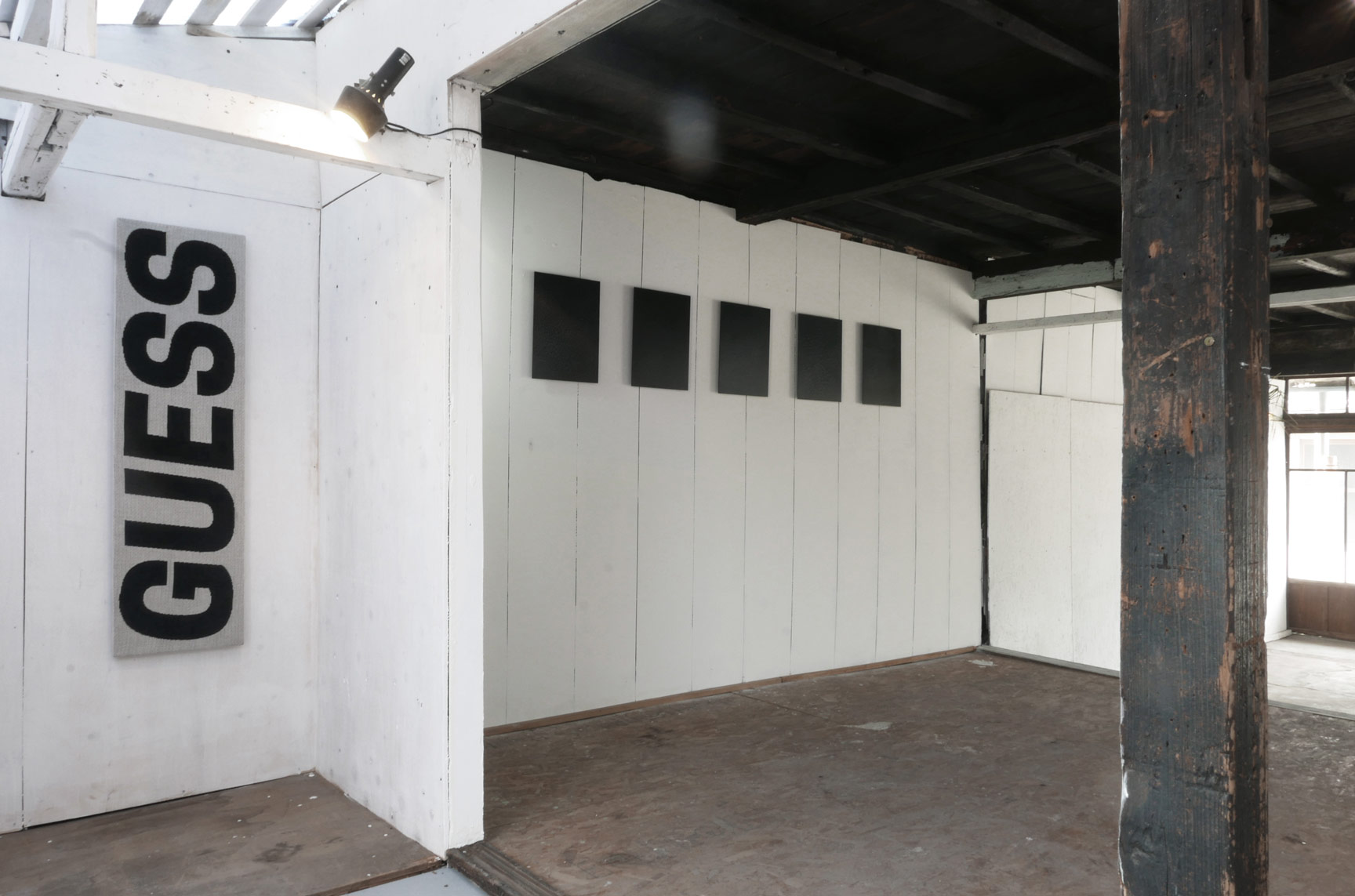 "Artist Jan Hansen's ""Tsuyu"" installation at Shiro Oni Studio's Kotoriya building"