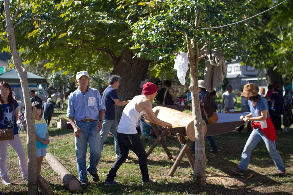 Kanna Fall Art Festival 2014 Wood Cutting