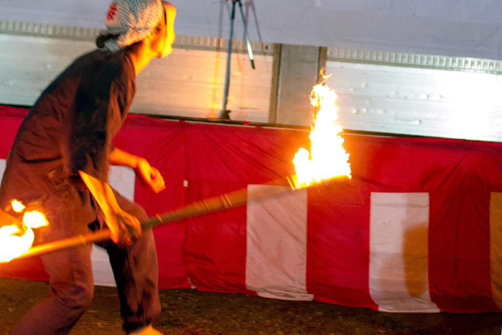 Kanna Fall Art Festival 2014 Makoto Hirokami Fire Dance