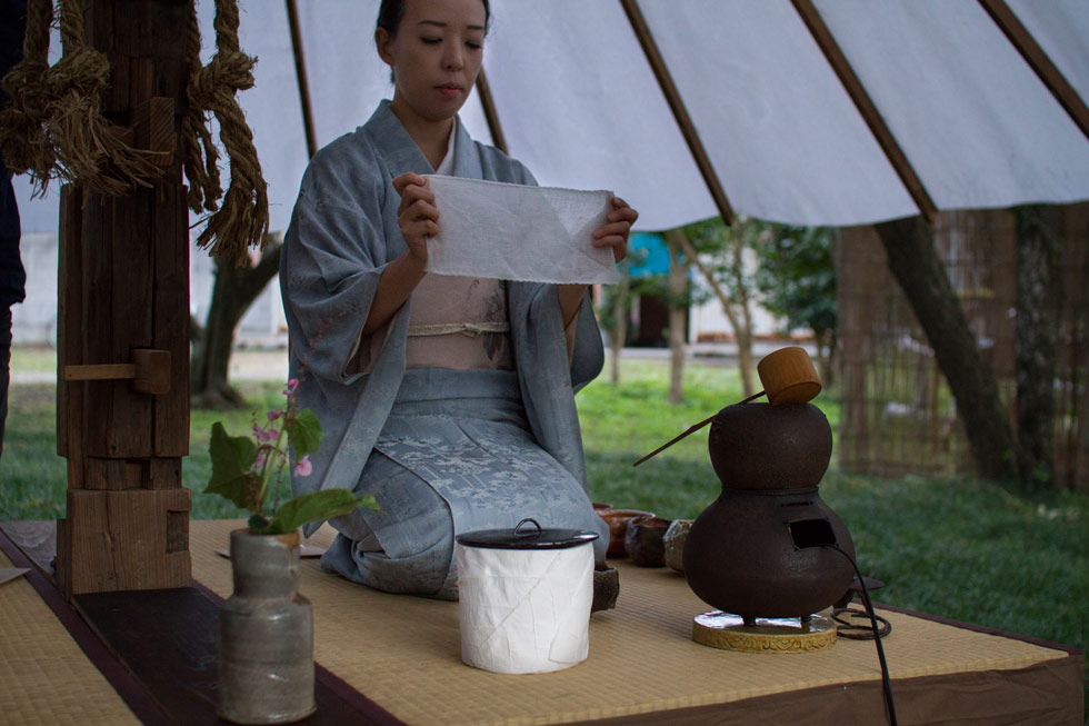 Kanna Fall Art Festival 2014 Kjell Hahn and Fuyuko Kobori Tearoom japanese tea ceremony