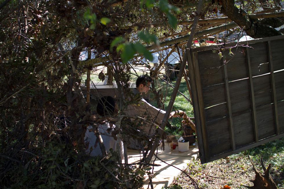 Hayashi Yewya in Horikoshi Chiaki's tearoom chashitsu