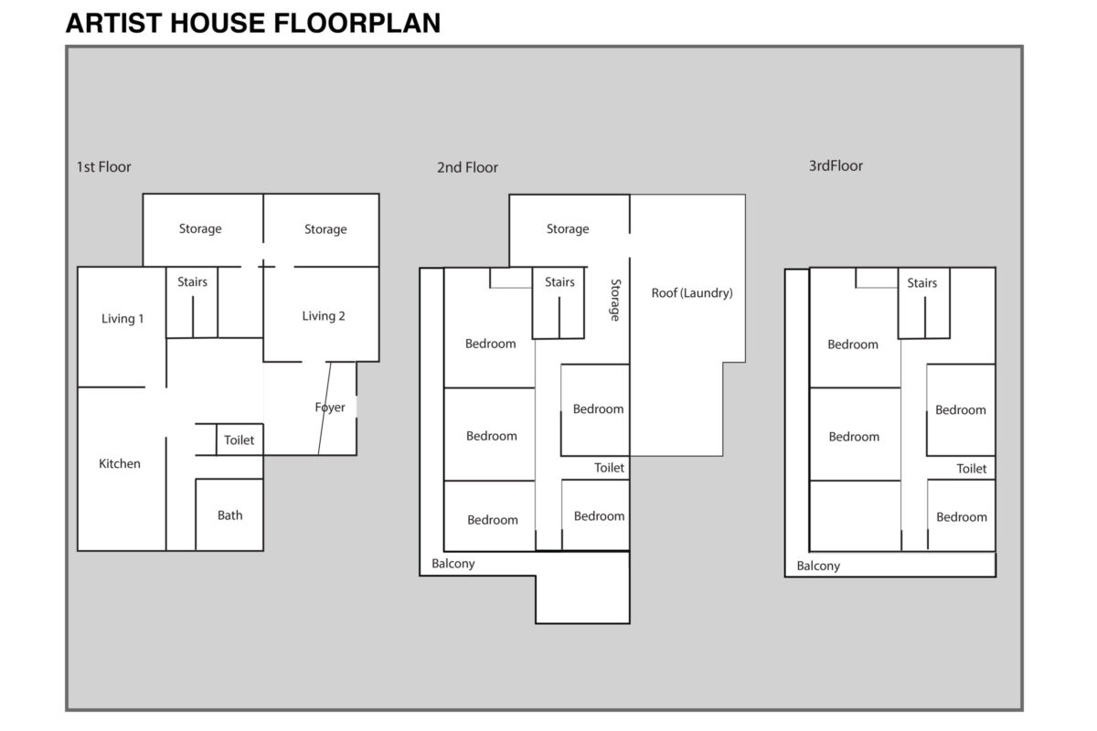 Shiro Oni Studio House Floorplan
