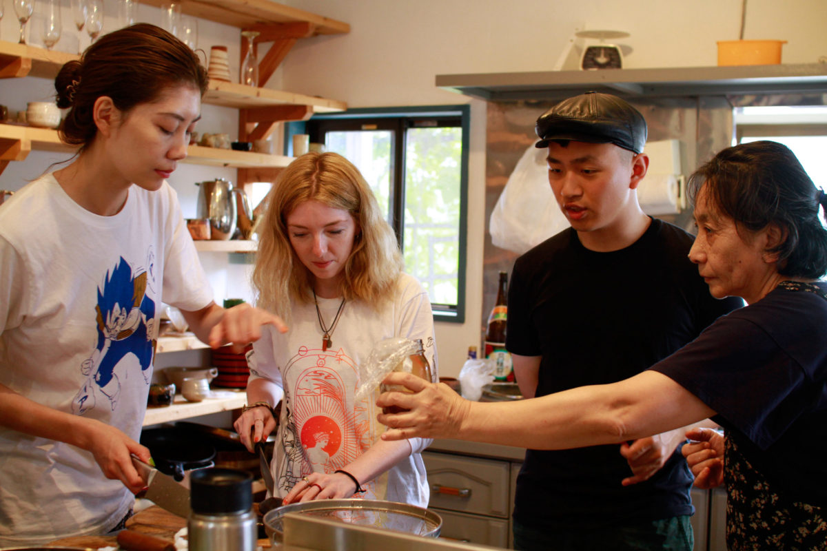 Cooking workshop at Japanese Art Residency
