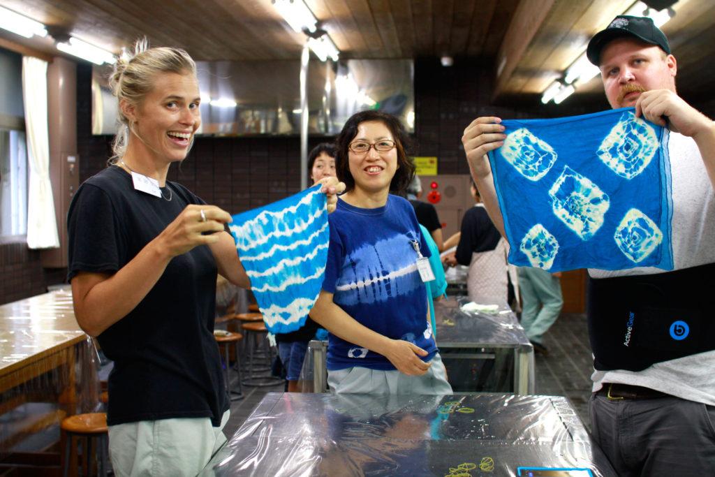 Indigo Dyeing workshop in Takasaki Japan