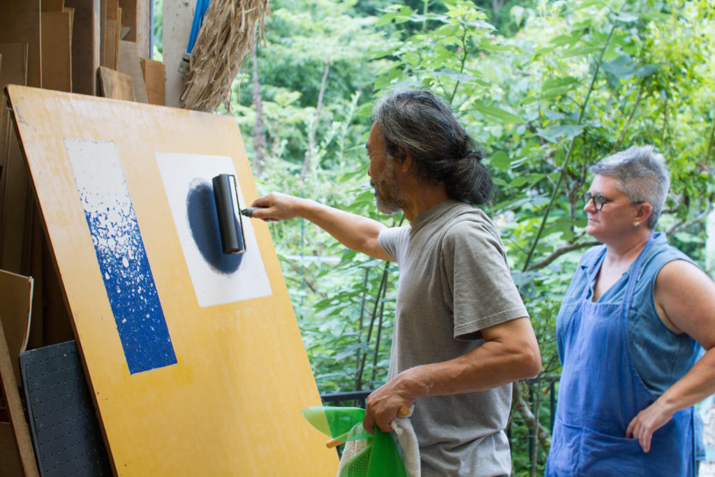 Artist Yanai Tsuguo teaches how to make traditional washi paper at his studio in Japan
