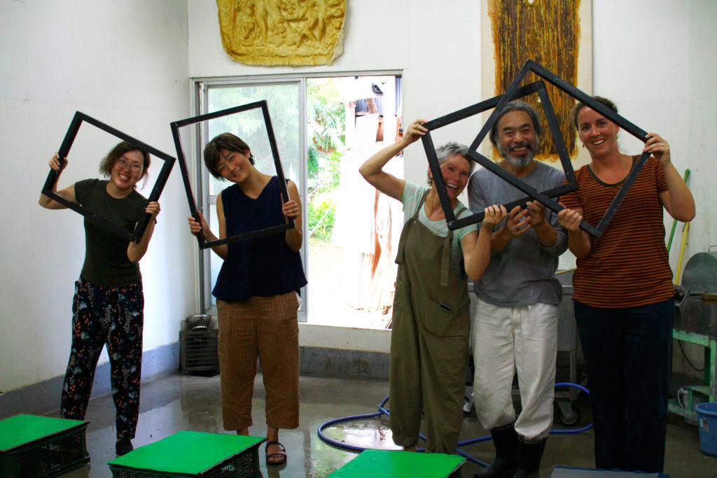 Yanai Tsuguo washi paper making workshop in japan