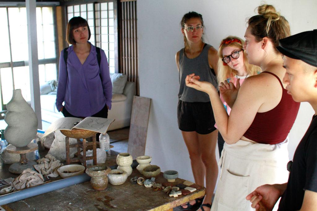 Elise Birnmbaum Studio Visit Ceramics Art Residency Onishi, Japan