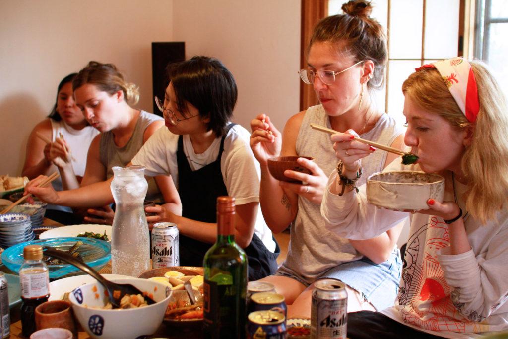 Cooking workshop at Japanese Art Residency