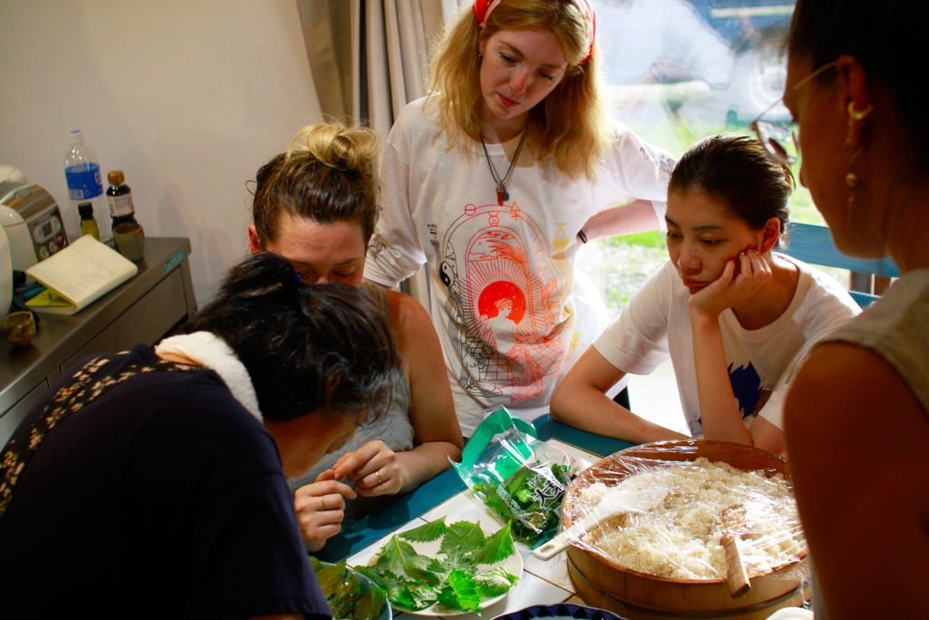 Insari Cooking workshop at Japanese Art Residency