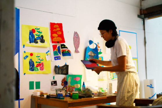 Studio Visit with Artist Christine Cha at art residency in Japan