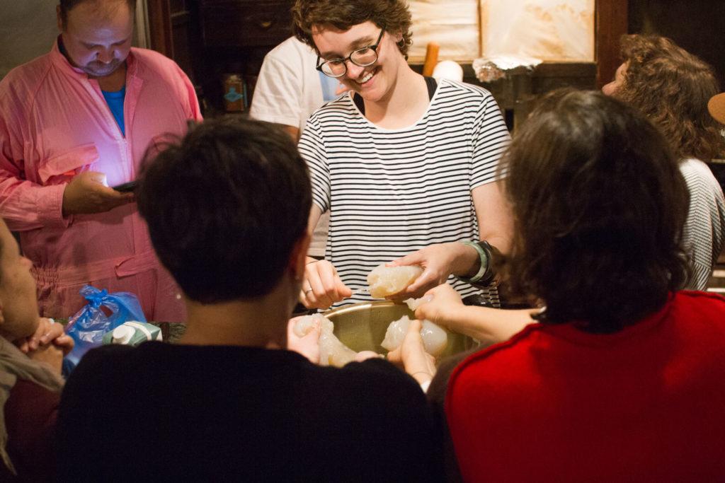 Japanese cooking workshop at art residency
