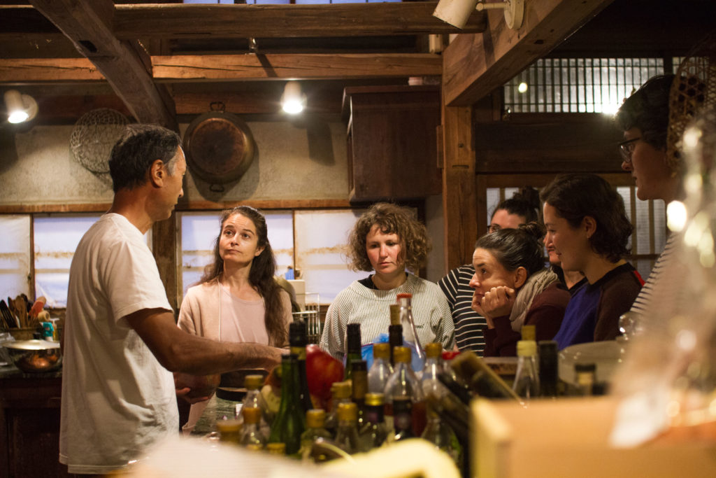Japanese cooking workshop at farmers house in rural Japan