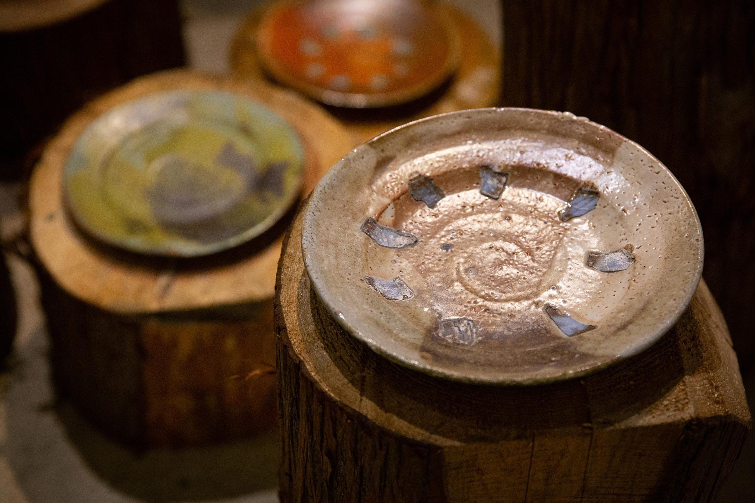 Kjell Hahn Anagama-fired ceramic plates